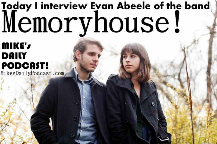 Memoryhouse Band Photo. Evan Abeele and Denise Nouvion.