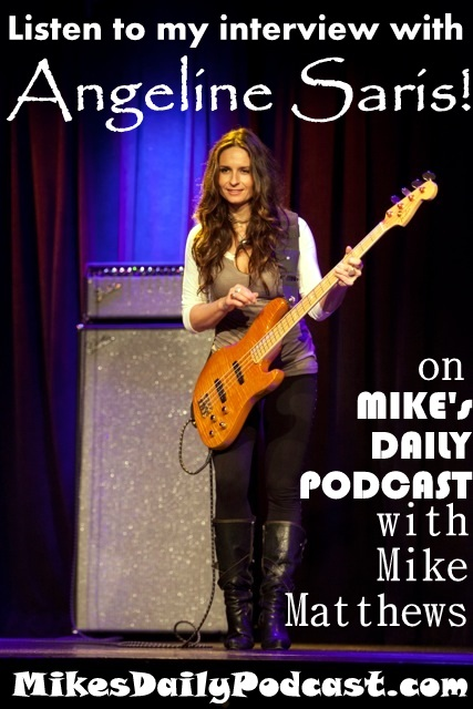 MIKEs DAILY PODCAST 3-26-15 Angeline Saris Bass Player Marin County