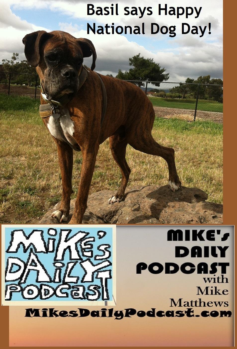 MIKEs DAILY PODCAST 1161 National Dog Day San Leandro Marina